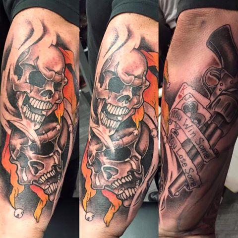 Guns and Skulls Tattoo