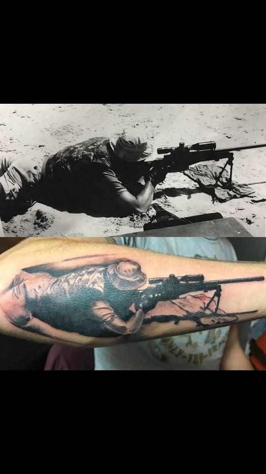 Sniper tattoo